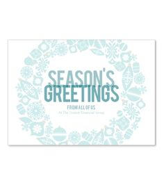 Gorgeous corporate holiday card with mirrored snowflake image ...