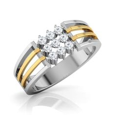 Signity Ring For Men Jewellery India Online Gold Band Ring, Gold Diamond Rings, Diamond Jewelry, Mens Diamond Ring Designs, Casual Rings, Gents Ring, Ringe Gold, Diamond Stores, Engagement Rings For Men