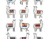 Llama-rama Print | CactusClub Paper