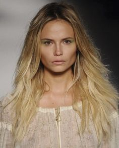 Ombre on light hair.