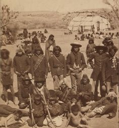 This photo of the Verde Reservation Chiefs by D.P. Flanders 1873-1874. I think this group is Tolkepaya or Western Yavapai People.