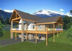 ePlans Contemporary House Plan – Sportsman's Cabin 2402 Square Feet and 2 Bedrooms from ePlans – House Plan Code HWEPL76782---THE PLAN