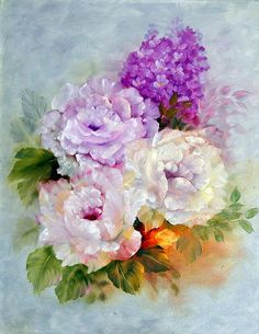 Heavenly Bouquet Painting  - Heavenly Bouquet Fine Art Print
