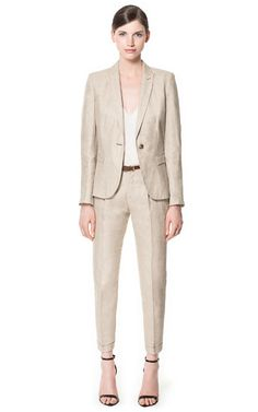 Linen suiting options from Zara, think of all the colour possibilities for accessories and tops!