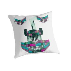 Throw pillow. Artwork: Containing voltage by Anna Sköld at Lumumma infodesign. Check out this artwork on more products at www.redbubble.com/people/lumumma/shop