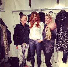 @Kelly Bensimon hanging out with Joie Rucker and Caroline Calvin at the Calvin Rucker #coterie booth
