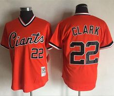 Mitchell And Ness Giants  22 Will Clark Orange Throwback Stitched MLB  jerseys Basketball Floor 975a2d99a