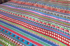OK here we go people, the stripey blanket all finished, wrapped up, complete! Be warned quite a few photos in this post! ...