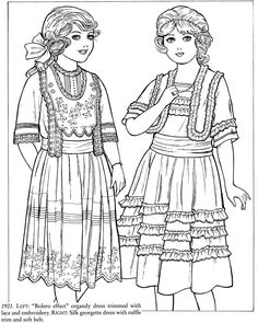 Godeys Fashions Coloring Book Dover Fashion Ming