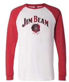6917a332d15c Jim Beam plaid logo baseball t-shirt Jim Beam