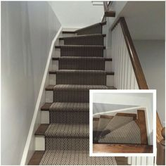 Tuftex Carpets of California Only Natural on the staircase Photo courtesy of @colonyrugco