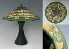Arts & Crafts style lamp by the Strobl Pottery company of Cincinnati, Ohio. From the collection at Gem Antiques.