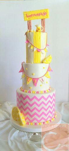 Lemonade stand cake