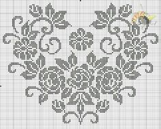 Cross Stitch Heart, Cross Stitch Flowers, Cross Stitch Patterns, Filet Crochet, Crochet Doilies, Perler Beads, Beaded Embroidery, Needlework, Bullet Journal