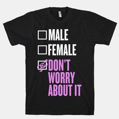 I am Genderfluid Check List T-Shirt Male Gender, Third Gender, Gender Roles, Transgender, Genderqueer, Look Cool, Equality, T Shirt, Sweatshirts