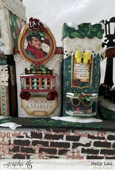 Christmas Village Mini Album Set - Graphic 45 - Christmas Carol - Belly - 3  http://g45papers.typepad.com/graphic45/2015/11/brilliant-villages-with-a-christmas-carol-.html
