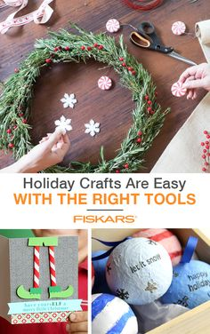 The holidays are a perfect time to get children involved in not only making ornaments, but making gifts too. These handmade ornaments are easy to make and are fun for kids of all ages. Learn how to make these and other cool craft ideas by checking out Fiskars.com.