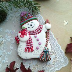 Cute Christmas Cookies, Snowman Cookies, Bear Cookies, Christmas Cooking, Noel Christmas, Christmas Goodies, Holiday Cookies, Cupcake Cookies, Cupcakes