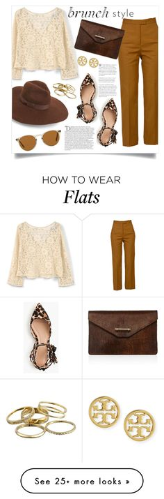 """Perfect for brunch!"" by anchilly23 on Polyvore featuring MANGO, MSGM, Lack of Color, J.Crew, Oliver Peoples, M2Malletier, Balmain, Kendra Scott and Tory Burch"