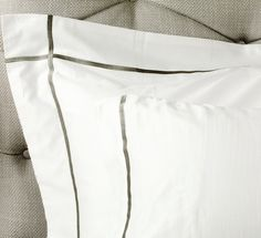 500 Thread Egyptian Cotton Sateen Grey Row Cord Bed Linen | Exclusive Bed Linen | Bedroom | Bedding Sets, Duvets & Covers, Bed Linen, Pillows, Towels, Bed Sheets, Table Linen | King of Cotton