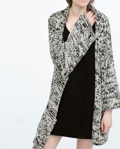 diseño atemporal 609c6 e06d4 Chaqueta negra punto mujer zara – Artículos populares de moda