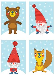 ompelukuvat I free printable paper | lasten | lapset | joulu | idea | askartelu | kädentaidot | käsityöt | tulostettava | kuva | paperi | koti | leikki | DIY | ideas | kids | children | crafts | paper | picture | christmas | home | Pikku Kakkonen Projects For Kids, Diy For Kids, Sewing Projects, Crafts For Kids, Hobbies And Crafts, Diy And Crafts, Arts And Crafts, Paper Crafts, Stitching On Paper