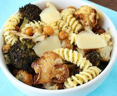 Parmesan Fusilli with Roasted Chickpeas, Broccoli, and Cauliflower | 21 Delicious Fall Dinners With No Meat