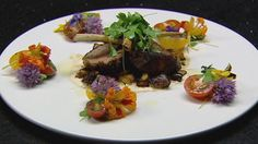 Sumac Lamb Rack with Heirloom Tomatoes, Eggplant and Smoked Yoghurt Sauce