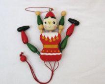 Poupée en bois String Puppet jouet suspendu Pinocchio marionnette