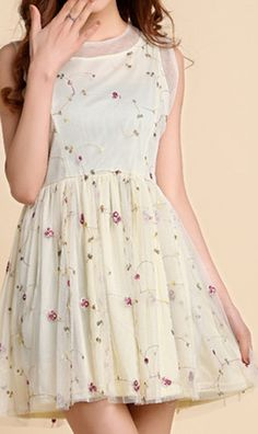 Embroidery flower vest chiffon dress. I had one kinda like this when I was 10!!!!!