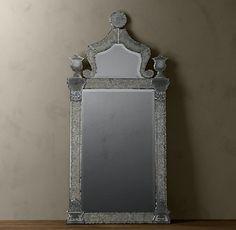 Beveled mirror panel.