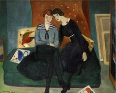 Einar Jolin (Swedish 1890-1976)The  Sisters (1918)oil on canvas