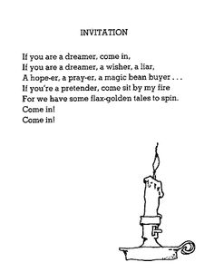Shel Silverstein poem... Reminds me of Doctor Who for some reason