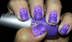 Makeup Junkie and Fangirl: Purple Ruffini and Dotted Mani