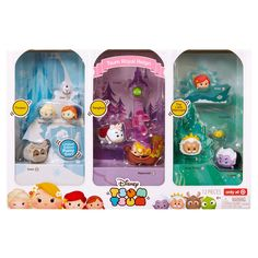Collect, stack and display your Disney Tsum Tsum characters from your favorite Disney stories! The Royal Reign set includes your favorite figures from Rapunzel, Frozen and The Little Mermaid. The set includes 4 large figures, 4 medium figures, 3 small figures, and 1 stackable accessory and 3 small figures. Available only at Target! Some assembly for accessories required. Ages 6+