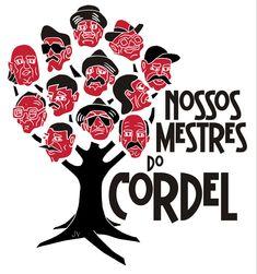 Linoleogravura para logo do encontro Nossos Mestres do Cordel, da ABLC, Academia Brasileira de Literatura de Cordel.