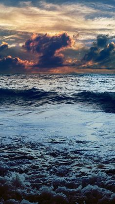 Download Dark Stormy Sea Sunset iPhone 6 Wallpaper iphonewalls.net