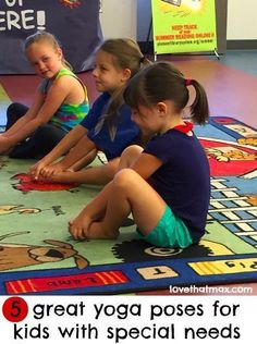 5 great yoga poses for kids with special needs: easy, therapeutic and FUN!Tap the link to check out great fidgets and sensory toys. Check back often for sales and new items. Happy Hands make Happy People! Physical Education, Physical Activities, Special Education, Mindfulness Activities, Family Activities, Special Needs Students, Special Needs Kids, Childrens Yoga, Yoga 1