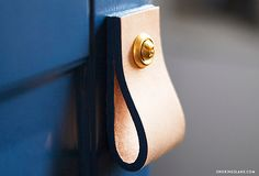 Simple Leather Drawer Pulls DIY Project - One Kings Lane - Style Blog