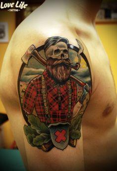 "Олег ""Barrymore""  Савчук  Дизайн - Derek Nobbs  Love Life Tattoo. Москва"