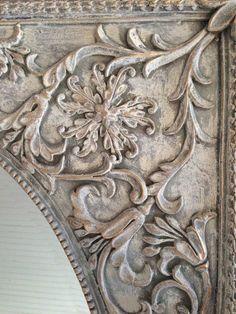 Annie Sloan Chalk Paint   furniture {reincarnated} - Old White, Paris Gray, Dark Wax, Gilded Details:
