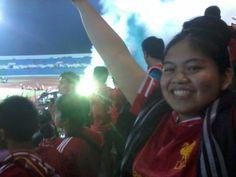 The day I won't forget. LFC U17 at Sultan Agung Stadium, Bantul, Yogyakarta. #YNWA #NoPyroNoParty