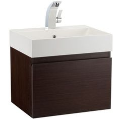 Mino 500 Drawer Unit And Basin - Wenge | bathstore