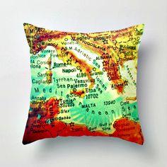 Wanderlust Map Pillows - collect your favorite destinations