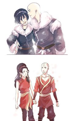 Avatar the Last Airbender - Avatar Aang x Toph Bei Fong - Taang