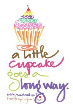 A little cupcake goes a long way