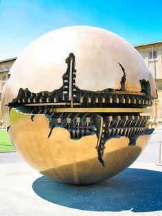Sphere Within Sphere (Sfera Con Sfera) by artist Arnaldo Pomodoro