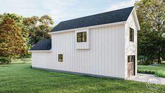 Modern Farmhouse Cabin Plan | Littleton Narrow Lot House Plans, Best House Plans, Narrow House, Farmhouse Plans, Modern Farmhouse, Farmhouse Style, Board And Batten Exterior, Cabin Plans, Build Your Dream Home