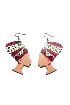 Love's Hangover Creations Janina's Divas Earrings from Indiana by LHOCreations — Shoptiques #Turbans #AfricanCulture #ShopSmall #Crowns #Crowned #ShoppersHour #Indianapolis #ShopLocal #ShopOnline #Jewelry #FemaleEntrepreneurs #KenyanBoutique #KenyanOwned