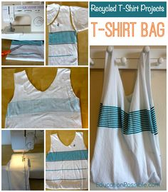 Recycled T-Shirt Projects for Kids: T-Shirt Bag - Education Possible